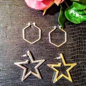 Two pair of vintage silver earrings
